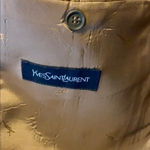 Yves Saint Laurent suit jacket measurements in pic